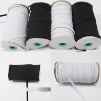 3/6mm Flat Elastic Band Cord Stretch Waist Band Trimming Sewing Dressmaking DIY