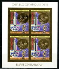 Centre Afrique 1981 Olympic games JO Moscou Gold Foil Or MICHEL 622 B 120 euros