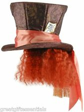 Disney MAD HATTER TOP HAT HAIR Alice in Wonderland Wig Madhatter Costume Depp