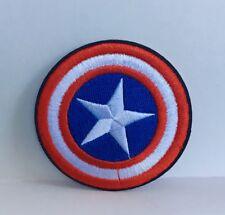 Marvel Superhéroe Capitán América Escudo Parche bordado apliques coser hierro #93