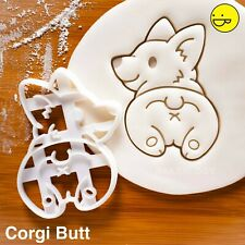 Corgi Butt cookie cutter | cute Pembroke Welsh dog pet twerk corgis biscuit