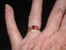 642  14k yellow gold ruby diamond ring .5 ct ruby .33 ct G VS 2 size 6 4.2 grams