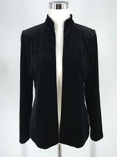 Alex Evenings Woman's Open Front Velvet Shoulder Padded Cardigan Size Small