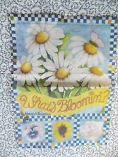 """What's Blooming'? Mini Garden Flag ~ by Kimbery's Garden ~ 10.5""""x14.5"""""""