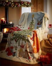 Christmas Sherpa Fleece Blanket Supersoft Throw Night Before Xmas 130 X 170CMS