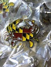 LTD ED. MARYLAND FLAG CRAB LAPEL PIN LIKE STICKER/DECAL/MAGNET