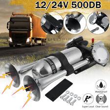 500db 1224v Super Loud Air Horn Dual Trumpet Compressor For Train Car Truck Rv
