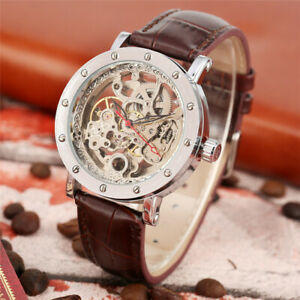 Modern Men Business Automatic Mechanical Wrist Watch Forsining Skeleton Watches