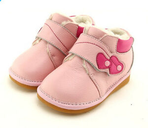 Freycoo Genuine Leather Kids Girls Shoes Pink Szes: 5 6 7 8 9 10  PB-6155PK