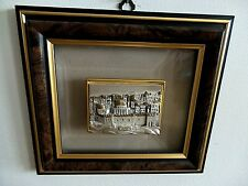 HANDCRAFTED BEVELED CRYSTAL WITH STERLING SILVER ART FRAMED BY ARTIST SAAD