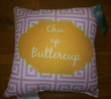Nwt Manual Suzanne Nicoll Chin Up Buttercup Pink Floral Throw Pillow