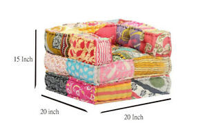 Bohemian Floor Sofa Indian Patchwork modular Sofa Ethnic Multicolored Ottomans