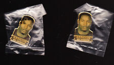 20 LOT 1990 BO JACKSON PLAYER HAT LAPEL BUTTONS SEALED OAKLAND RAIDERS