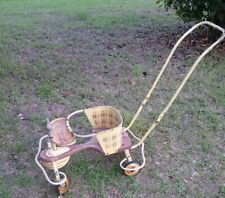 Vintage 1950s TAYLOR TOT Metal Wood Baby Stroller Walker