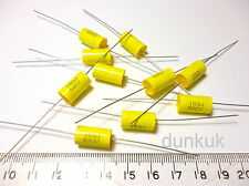 10x Capacitor 0.01uF 10nF 5% 630V DC Polypropylene Axial Valve Metal Film