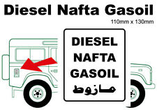 Diesel Nafta Gasoil Aufkleber - zB Defender, G-Klasse, Unimog, Land Rover, Mog