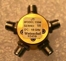 Weinschel Model 1594 DC-18 GHz 1 to 4 splitter  APC 3.5 (f) connectors