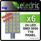 LED Jayco 24 LEDs WARM Caravan Interior Wedge Light Bulb RV 4x4 Camping T10 6X