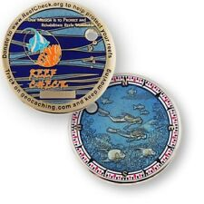 Coinsandpins Reef Check Coin Geocoin Geocaching Trackable Number