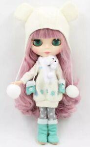 schöne Fabrik Blythe Doll/Puppe mit Outfit rosa Haare 30 cm Neu