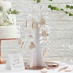 Ginger Ray Wooden Wishing Tree [Wedding Guest Book Alternative]
