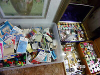 VINTAGE Huge Lot of SEWING NOTIONS Over 200 pcs + snap pliers + LOTS MORE!!!!