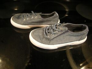 Nice Toddler Girls Blue & White Sperry Top Sider Shoes, Size 10.5