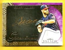 COREY KLUBER 2017 Topps Five Star Golden Graphs Autograph #CK Indians #d 03/25