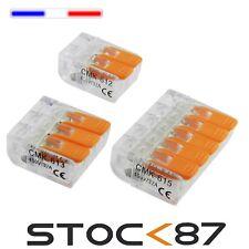 1 à 100pcs connecteur à levier 2, 3 ou 5 plots marque CMK ou WAGO