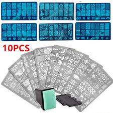10x Nail Art Scraper Stamper Stamp Plate Template Printing DIY HK