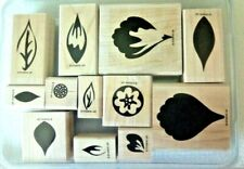 Stampin Up Boxed set of Leaf Design Stamps New Never Used 12 pieces total