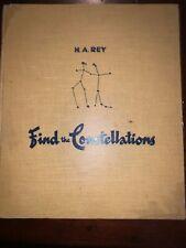 Find The Constellations Vintage Book Children Astrology Stars 1956 By HA Rey