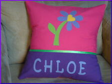 CHILD'S/GIRS PERSONALISED NAME CUSHION COVER/NURSERY/SHOWER/GIFT - DAISY -