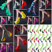 5Pair Different Heels Shoes Boots Clothe Accessories for Monster High Dolls Gift