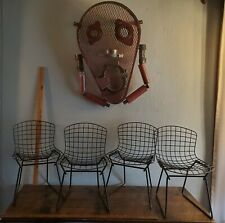 SET OF FOUR HARRY BERTOIA KNOLL CHILD CHILDREN WIRE CHAIRS