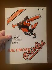 1980 Baltimore Orioles Official Yearbook with Schedule Insert Ungraded