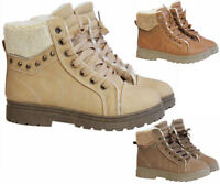 LADIES ANKLE BOOTS WOMENS LACE UP MILITARY COMBAT WORKER CELEB SHOES SIZE UK 3-8