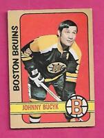 1972-73 OPC # 1 BRUINS JOHNNY BUCYK GOOD CARD  (INV# C2754)