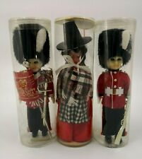 """2x Beefeater & 1 Female Dolls Height 6"""" - Brand New in Plastic Containers -"""