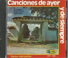 Canciones De Ayer Y De Siempre  Latin Music CD