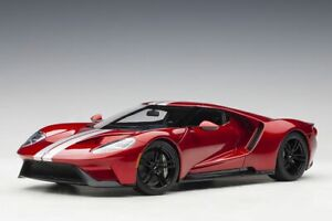 1:18 Ford GT by AUTOart in Liquid Red with Silver Stripes 72943
