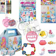 Childrens Pre Filled Party Bags Boxes Kids Boys Girls Birthday Bag Favors Toys Mermaid