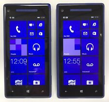 Lot of 2 HTC Windows Phone 8X 16 GB Verizon 4G LTE Blue *AS-IS* Cannot Activate