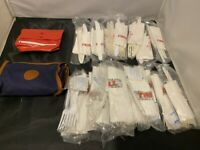 NEW LOT OF VINTAGE TWA AIRLINES 21x SILVERWARE AMIENTY BAGS FORK KNIFE NAPKIN