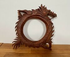 Hand Carved Wood Dragon Picture Frame