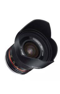 Rokinon 12mm f/2.0 NCS CS Manual Focus Lens for Fuji X Mount (RK12M-FX) Black