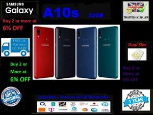 New Samsung Galaxy A10s 32GB Dual Sim 2019 4G LTE UNLOCKED Black Blue Green Red