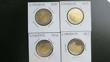 LITHUANIA LOT OF 4x 2 EURO COMMEMORATIVE COINS 2015-2017 UNC.