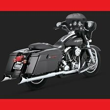 "VANCE AND HINES 3"" FISHTAIL SLIP-ON MUFFLERS FOR HARLEY TOURING 1995-2016 CHROME"