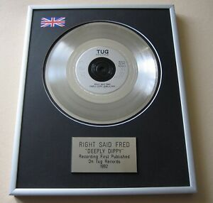 RIGHT SAID FRED Deeply Dippy PLATINUM PRESENTATION DISC